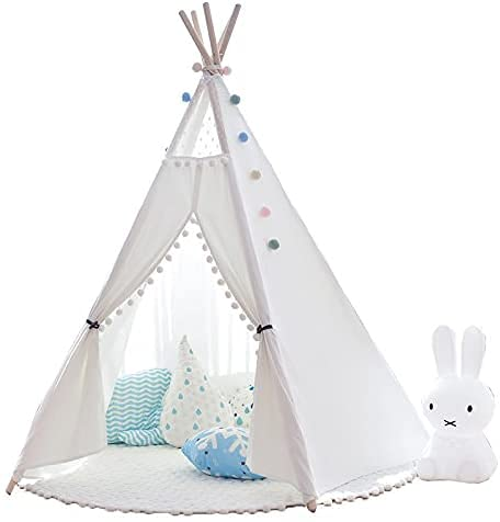 Anion Tipi - Tienda de campaña para niños, algodón, con colchón