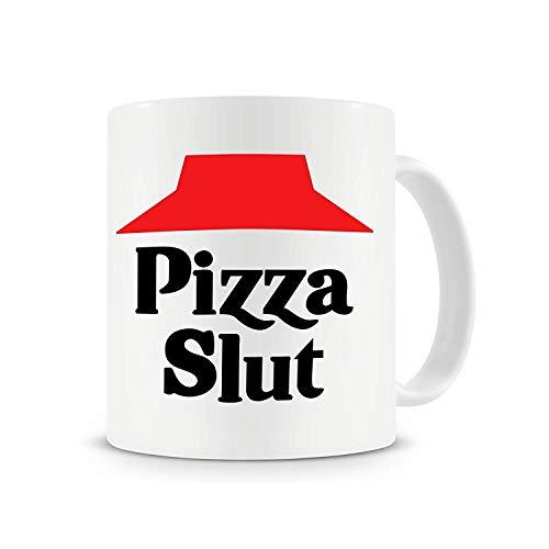 VinMea Pizza Slut Mug Funny Coffee Mug Pizza Gift Mug