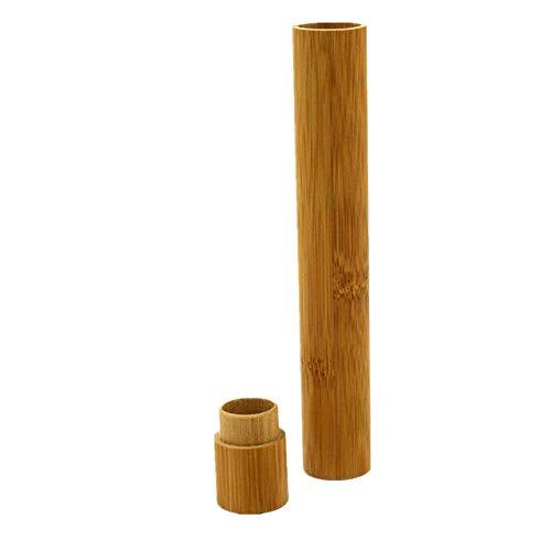 Sulifor Zahnbürste Aufbewahrungsbox Erwachsene Modelle, tragbare natürliche Bambuszahnbürste Box Reisen Umweltschutz handgefertigt