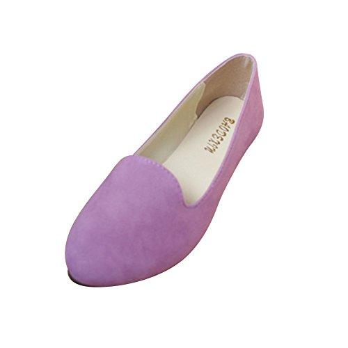 Frauen Damen Slip On Flache Schuhe Sandalen Casual Ballerina Schuhe Schwangere Frau Schuhe,Helles Lila,EU 42
