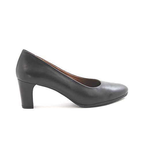 Wohnzimmer-Schuhe, Leder, schwarze Gel-Pflanze, Schwarz, Schwarz - Schwarz - Größe: 41 EU