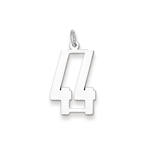 diamond2deal 925plata esterlina pequeña alargado Pol número 44Colgante