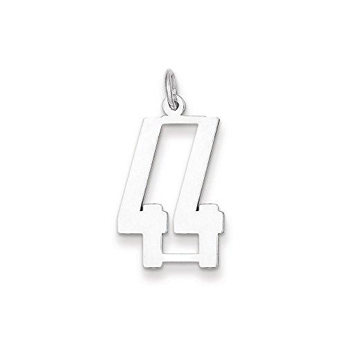 Diamond2Deal donna ciondolo 925in argento Sterling numero piccolo Pol allungato 44