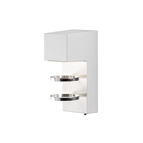 Konstsmide 7957-250 Accera Applique Murale LED en métal Blanc Mat Blanc Mat