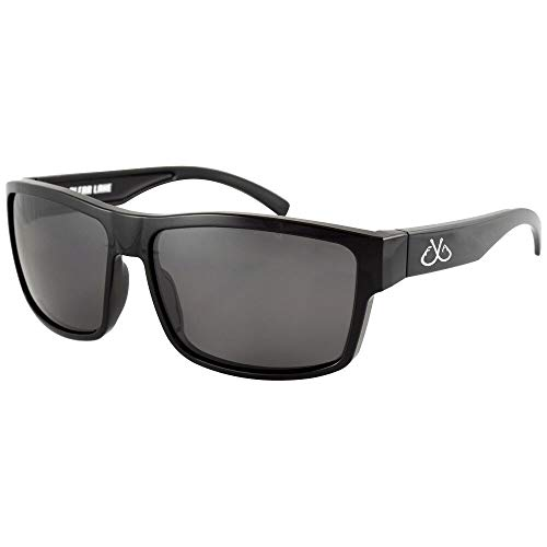 Filthy Anglers Ames Polarized Sport Fishing Sunglasses Black Frame Smoked Lens 100% UV Protection for Men & Women