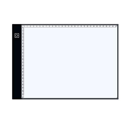 MOHAN88 Anime Black Edge Scale Tablet Tableta de Dibujo Digital Tabletas gráficas Tablero de Copia de Arte de rastreo USB electrónico - Negro
