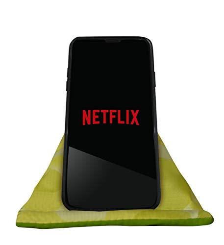 GAX Jango Beans Bag Mobiele Houder - Zacht Kussen Tablet Desktop Stand | Verstelbare Hoek | Compatibel met verschillende iPad Mini en andere SmartPhones, Groen