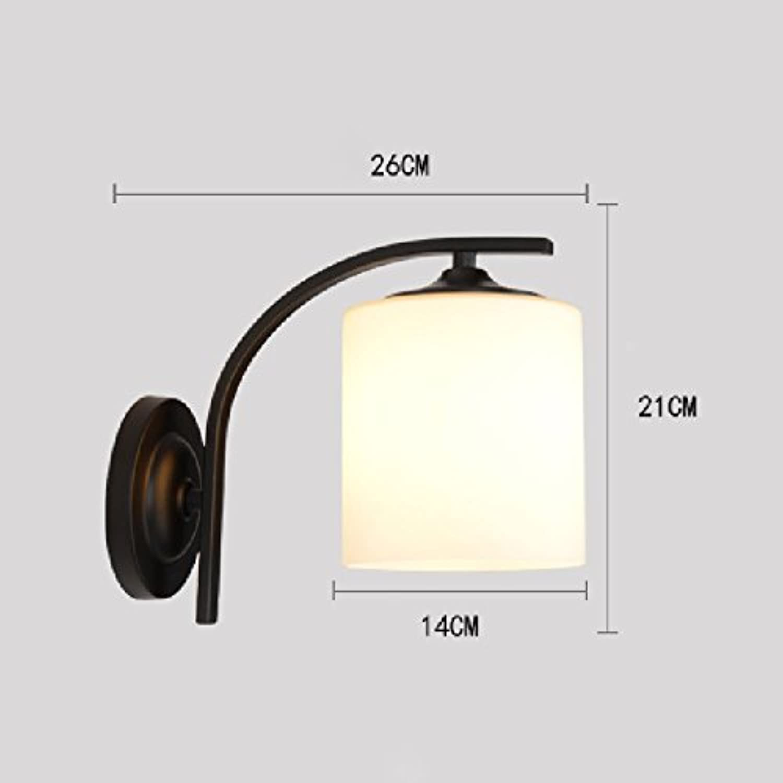 Amerikanische Landwandlampe einfache Schlafzimmergangflur-Wandlampe Retro- nordische dekorative Wandlampe. (Farbe   A+7 Watt LED)