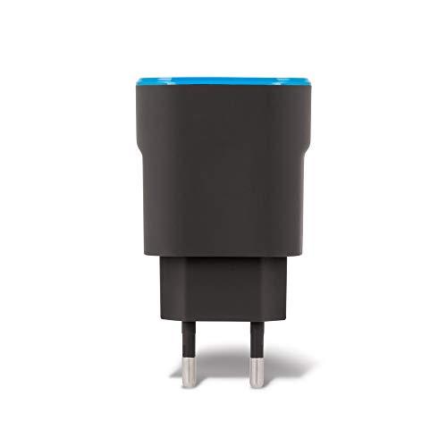 Cargador de 2 puertos USB de Forver, cargador rápido de 2,4 A, para teléfonos móviles, smartphones, tabletas, UVM, adaptador de carga rápida, adaptador de enchufe, cargador de pared con doble puerto