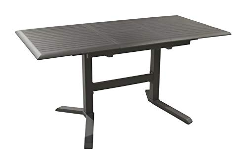 Proloisirs Ensemble Table SOTTA 110/150 Grey + 4 Chaise IDA Pliante G/G
