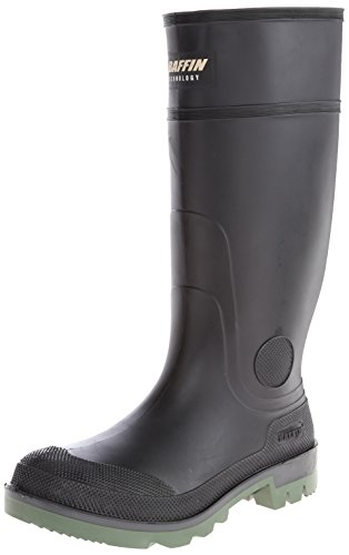 Baffin Men's Enduro PT Rain Boot,Black/Clear/Green,13 M US