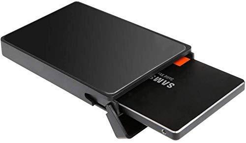 XSRTT Caja Disco Duro 2.5″, Carcasa Disco Duro USB 3.0 con UASP, Adaptador Disco Duro de HDD SSD SATA…