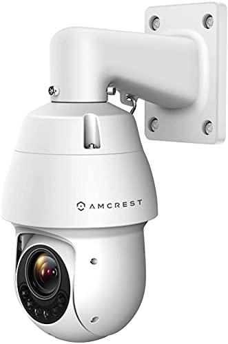 Amcrest 2MP Outdoor PTZ POE + IP Camera Pan Tilt Zoom (Optical 25x Motorized) ProHD POE+ Camera Security Speed Dome, CMOS Image Sensor, 328ft Night Vision, POE+ (802.3at) IP66, 2MP, IP2M-863EW-AI