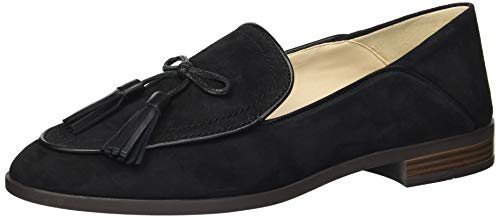 Price comparison product image Cole Haan Women's Pinch Soft Tassel Loafer Flat,  Black Suede,  6 B US
