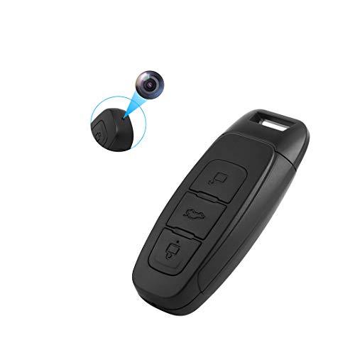 Camara Espia -Mini Camara -de Llave de Coche Cámara pequeña de Negocios para vigilancia HD1080P 2horas Grabación de Video /4horas Audio 32G Memoria, Grabación en Bucle Soporte 128G