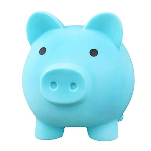 Hucha de plástico de cerdo de cerdo para adultos, caja de dinero de plástico, caja de monedas de ahorro de plástico, regalo divertido para niños y niñas