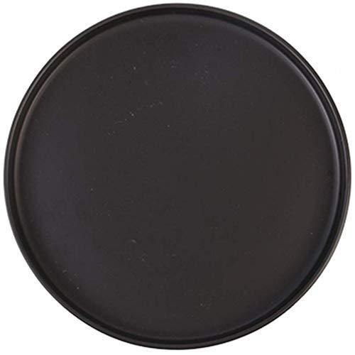 XUSHEN-HU cerámica Las vajillas vajilla vajilla placa de cerámica mate disco nórdica occidental plato de pasta Pasta Steak Inicio de ensalada de fruta del plato principal Negro 26cm 1 Artículo Clásico