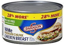 Swanson, Canned Chicken, 12.5oz Can (Pack of 4) (Choose Size Below) (12.5oz Can Premium Chunk White Chicken)