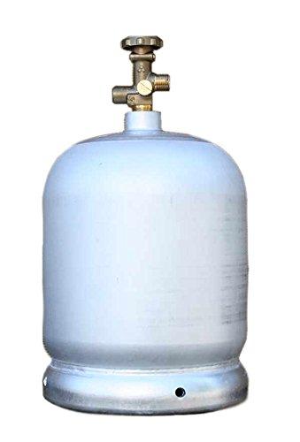 Aluminium Gasflasche 2kg leer selbst befüllbar / umfüllbar Propan Butan