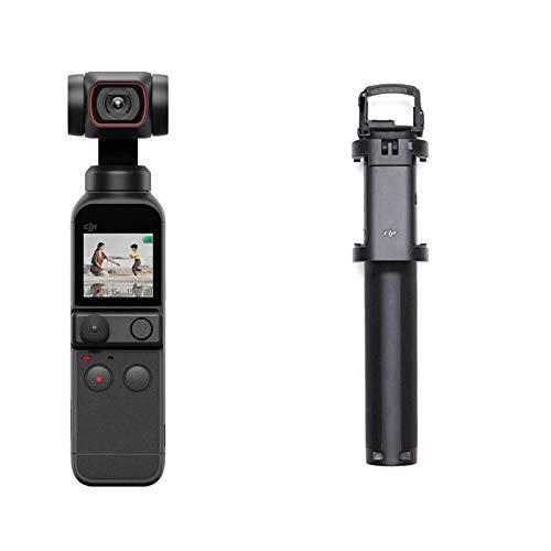 DJI Pocket 2 Combo - Cámara 4K con Estabilización en 3 Ejes + DJI Osmo Pocket Extension Rod - Barra de Extensión Retráctil para Osmo Pocket, Sin Tarjeta, con Extensor Rod