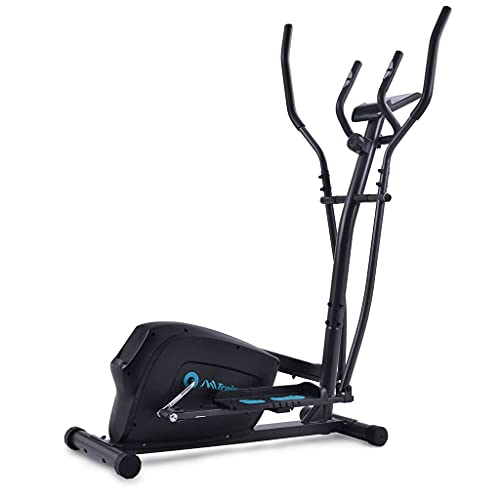 SMATBATH Elliptical Trainer Machine,Spin Bikes for Home Training Upright Exercise Bike with 8-Level Magnetic Resistance with Digital Monitor and Sensors