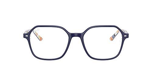 Ray-Ban 0rx5394 Gafas, BLUE ON STRIPES ORANGE/BLUE, 49 Unisex