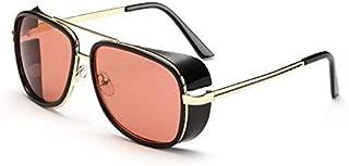 Iron Man Fashion Outdoor Square Sunglasses Black Frame Red Lenses