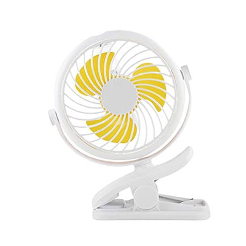 LBHH Mini Ventilator Clip,Ventilator Leise,USB Handheld Kleiner Lüfter,2200mAh Mini Clip Fan Ventilator mit 360° Drehung 3 Geschwindigkeiten Für Kinderwagen,Schule,Büros,Camping