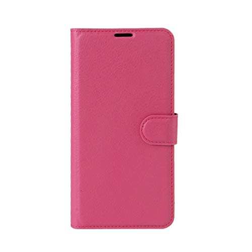 Phone case Lmy for Leagoo M8 Pro Litchi Texture Horizontal Flip Leather Case with Holder & Card Slots & Wallet (Black) (Color : Magenta)