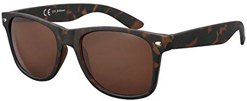 Original La Optica UV400 CAT 3 Unisex Sonnenbrille - Farben, Einzel-/Doppelpacks, Verspiegelt (Einzelpack Rubber Tortoise Horn (Gläser: Hell))
