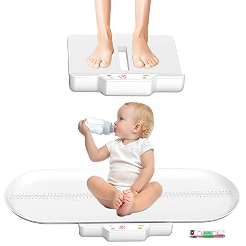 Báscula para bebés, Escala para mascotas,con bandeja de altura (Máx70cm) Mida el peso con precisión (Máx:220 lb) perfecto para niños pequeños.cachorros.gatos .adultos