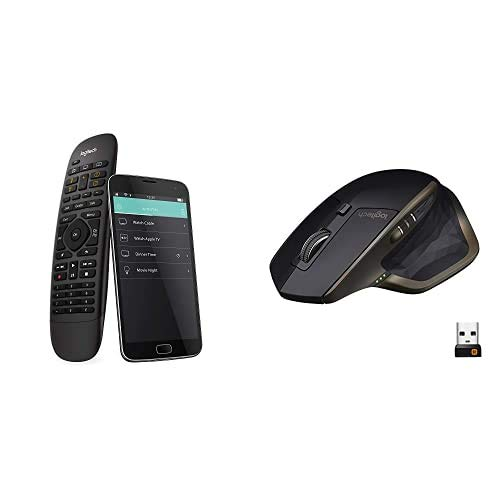 Logitech Harmony Companion Control Remoto a Distancia para Sky + MX Master Ratón Inalámbrico, Bluetooth/2.4 GHz con Nano-Receptor USB Unifying