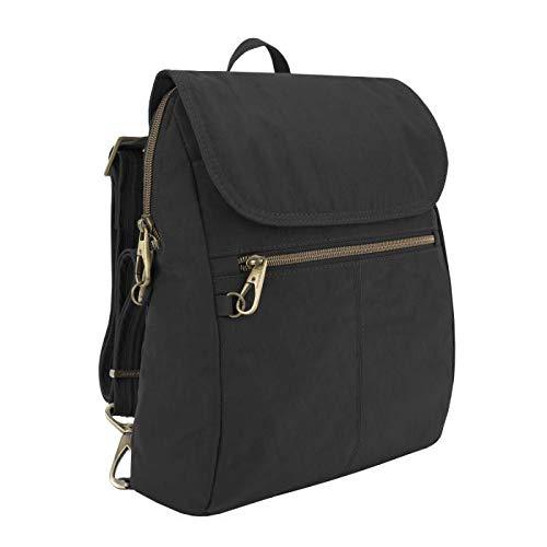 Travelon: Anti-Theft Signature Nylon Slim Backpack - Black