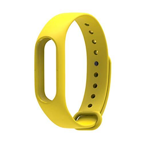 para MI Band 2 Brazalete De Reemplazo De Correa para Xiaomi Band 2 Print Silicone Universal Muñequera Colorida Banda De Relojes Impermeables (Color : Yellow)