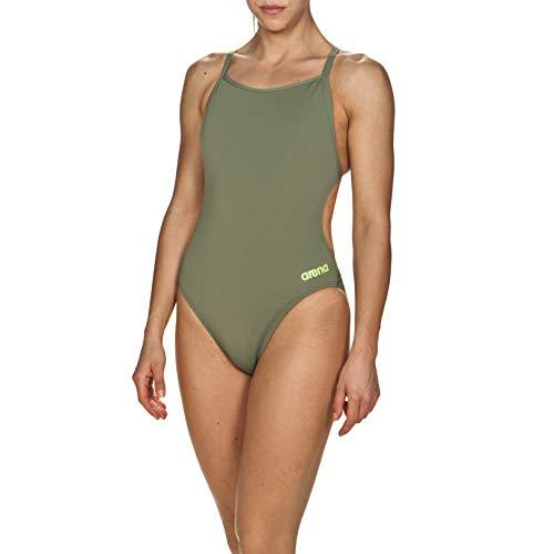 Arena Mast Light Tech Back MaxLife One Piece Swimsuit, Army - Shiny Green, 34