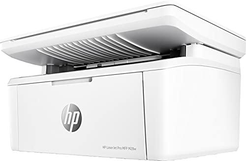 HP LaserJet Pro MFP M28w W2G55A, Impresora A4 Multifunción Monocromo, Imprime, Escanea y Copia, Wi-Fi, USB 2.0 de alta velocidad, HP Smart App, Apple AirPrint, Pantalla LCD de Iconos, Blanca