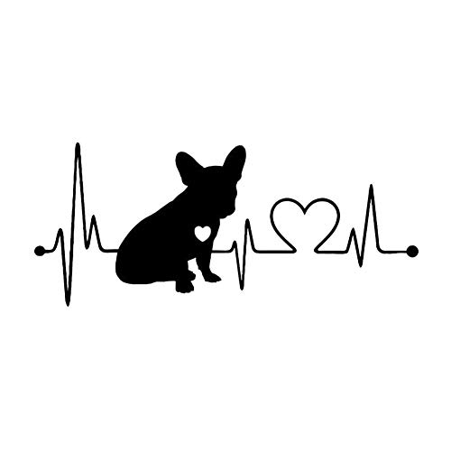 Yicare Dog Stickers Black and White French Bulldog Stickers for Wall Fridge, Toilet and More Frenchie Dog Stickers