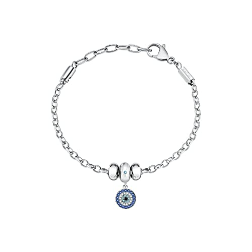 Morellato Drops Pulsera Mujer, en Acero, cristales - SCZ1124