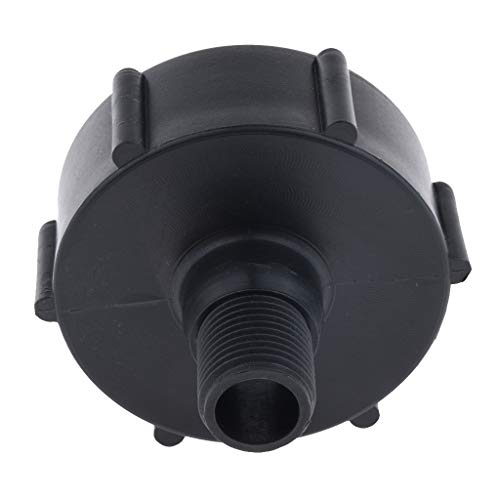 Baosity Solid 2'' IBC Tote Tank Valve Adapter DN50 for 3/4'' Thread Hose Pipe Plastic