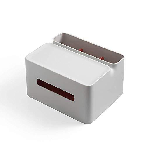 COLiJOL Soporte de Papel Caja de Pañuelos Organizador de Servilletas de Papel Soporte de Caja de Pañuelos Bolígrafo Lápiz Soportes de Control Remoto para Coche de Oficina en Casa