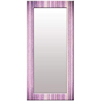 999Store Printed Violet Strips Pattern Mirror