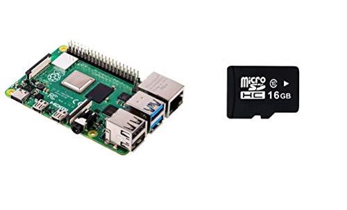 Preisvergleich Produktbild Raspberry Pi 4 Model B 2 GB RAM Version mit 16 GB Micro SD vorinstalliert,  mit Noobs