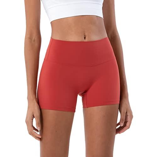 Pantalones Cortos de Yoga con Levantamiento de Cadera de Cintura Alta de Verano para Mujer Pantalones Cortos Deportivos para Correr de Estilo Europeo y Americano Nuevo Medium