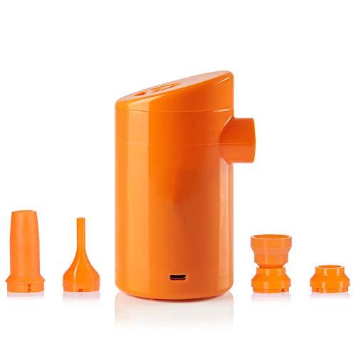 Gyfhmy Mini-elektrische USB-oplaadbare luchtpomp, met 3600 mAh accu, praktische 5 stekkers, snel opblaasbaar, draagbaar voor opblaasbare boten, matras, sofa, luchtmatras