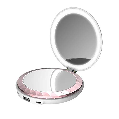 Ricaricabile Hand Warmer, 6000 Mah Usb Electronic Hand Warmer/makeup Mirror/mobile Power Beauty Fill Light Double-side Quick Heating Hand Warmers Reusable Winter Gifts for Men & Women