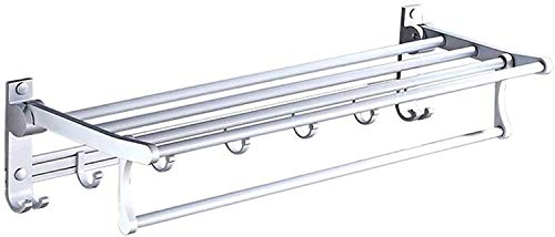 LSNLNN Estanterías de Baño, Toalla de Baño Toalla de Pared Colgaje de Inodoro Rod Rod Aseo Espacio de Inodoro Aluminio Toalla Perforada Rack Tidy