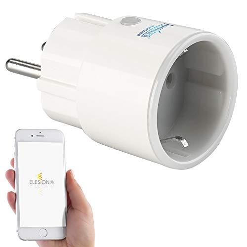 Luminea Home Control Steckdose Smart: Mini-WLAN-Steckdose mit App, für Amazon Alexa & Google Assistant, 16 A (Energiekosten-Messer)