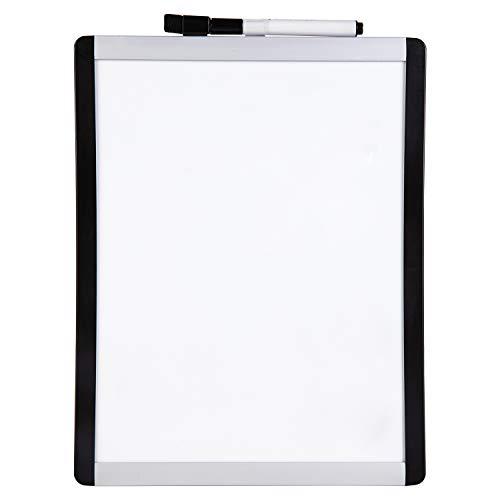 Amazon Basics Magnetisches Whiteboard, Kunststoff- / Aluminiumrahmen, trocken abwischbar, 22 cm x 28 cm