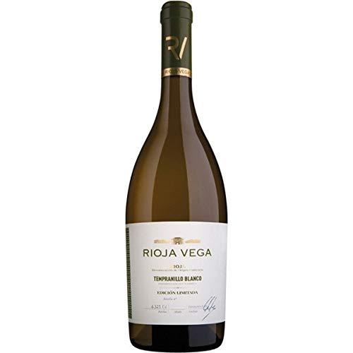 Botella de Vino Blanco Rioja Vega Tempranillo Blanco Denominación Rioja 2018