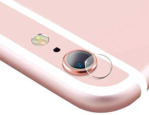 HongMan Cristal Templado para Lente Cámara de iPhone 6 Plus/6S Plus, Ultra Fino Protector 2.5D 9H de Dureza Cámara Trasera Lente Película de Pantalla [2 Unidades]